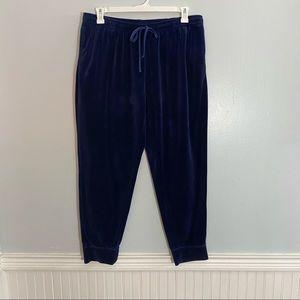 Hue Navy Blue Velour Joggers XL